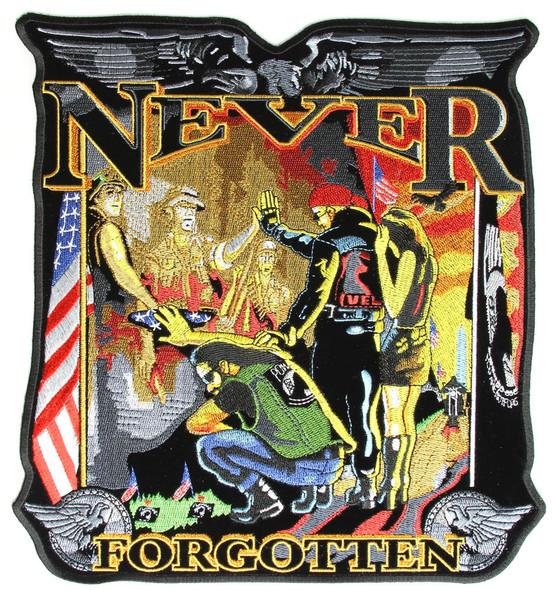 Vietnam Wall - Never Forgotten Vest Patch - Large - SKU GRL-PPA4147-HI