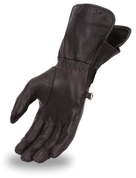 Women's Lightweight Motorcycle Leather Gauntlet Gloves - FI125GL-FM