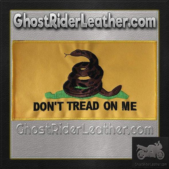 Yellow Gadsden Flag Vest Patch - Don't Tread On Me Patches - PAT-C230-DL