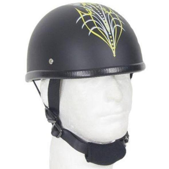 Yellow Sun Grazer Tribal Design Novelty Motorcycle Helmet - SKU GRL-H501-D6-YELLOW-DL
