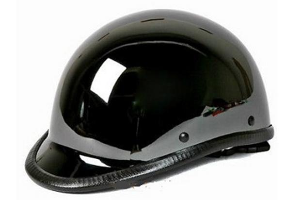 Novelty Motorcycle Helmet - Black Chrome - Jockey Polo - HC104-01-DL