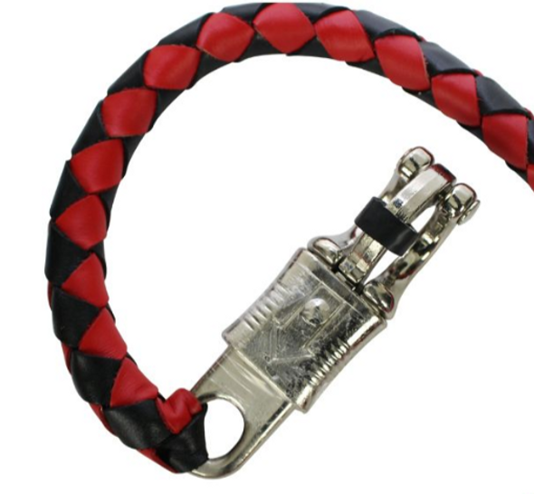 Get Back Whip - Black and Red Leather - 36 Inches - GBW6-11S-DL