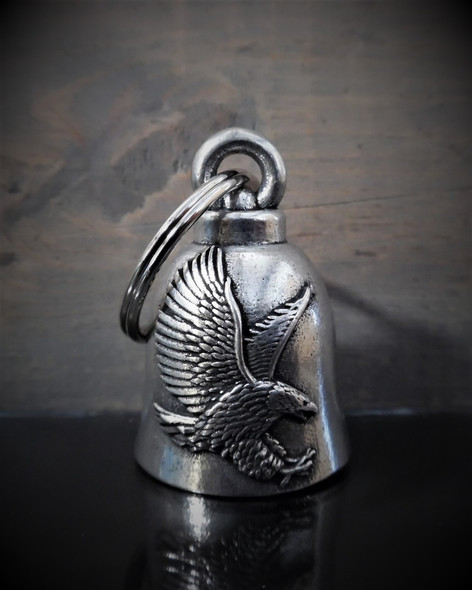 Eagle - Pewter - Motorcycle Spirit Bell - Made In USA - SKU BB43-DS