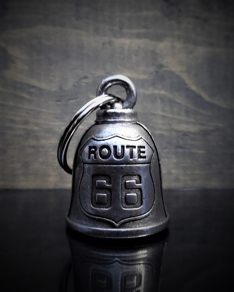 Route 66 - Pewter - Motorcycle Gremlin Bell - Made In USA - SKU BB32-DS