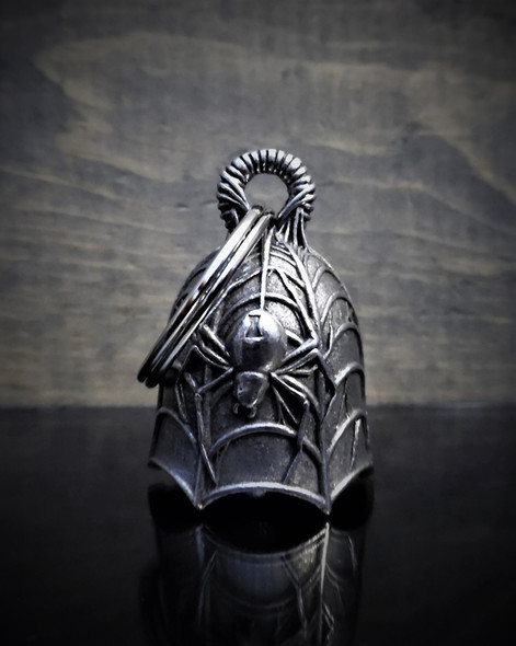 Spider - Pewter - Motorcycle Gremlin Bell - Made In USA - SKU BB29-DS