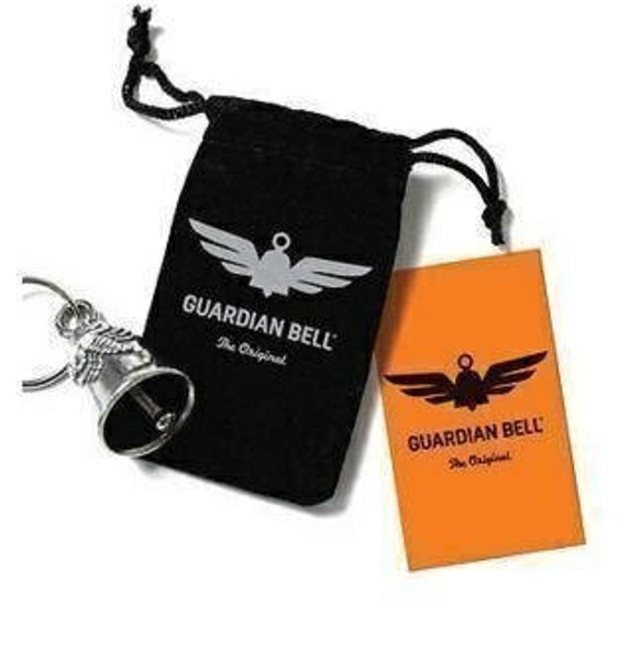 Bald Eagle - USA Flag - Pewter - Motorcycle Guardian Bell - Made In USA - SKU GB-BALD-EAGLE-DS