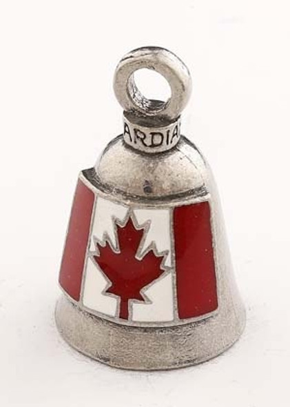 Canadian Flag - Pewter - Motorcycle Guardian Bell - Made In USA - SKU GB-CANADIAN-F-DS
