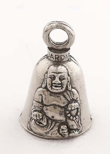 Buddha - Pewter - Motorcycle Guardian Bell - Made In USA - SKU GB-BUDDHA-DS