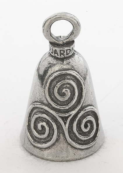 Celtic Swirl - Pewter - Motorcycle Guardian Bell - Made In USA - SKU GB-CELTIC-SWIRL-DS