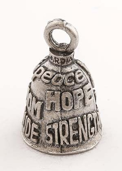 Charity - Pewter - Motorcycle Guardian Bell - Made In USA - SKU GB-CHARITY-P-DS