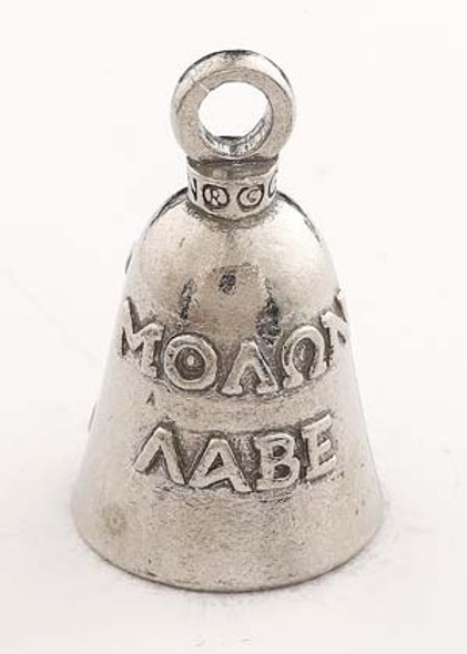 Come And Take Them - Molon Labe - Pewter - Motorcycle Guardian Bell - Made In USA - SKU GB-COME-A-TAKE-DS
