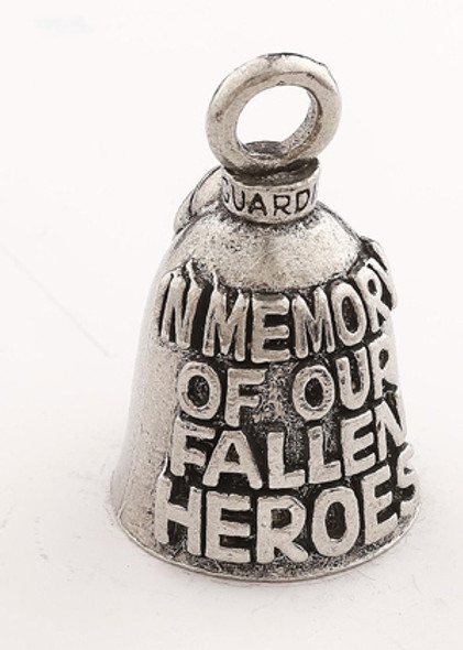 In Memory Of Our Fallen Heroes - Pewter - Motorcycle Guardian Bell® - Made In USA - SKU GB-IN-MEMORY-OF-DS
