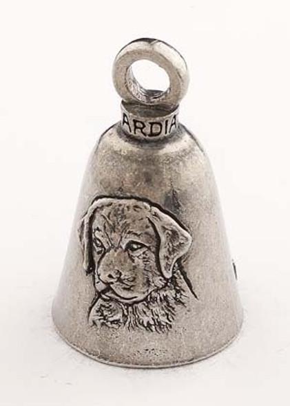 Labrador Dog - Pewter - Motorcycle Guardian Bell® - Made In USA - SKU GB-LABRADOR-DOG-DS