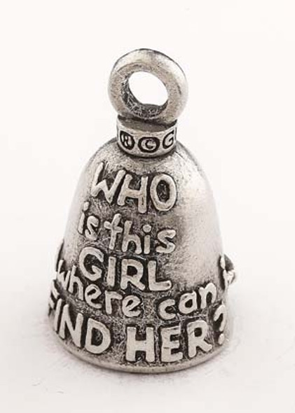 Mud Flap Girl - Pewter - Motorcycle Guardian Bell® - Made In USA - SKU GB-MUD-FLAP-GIRL-DS