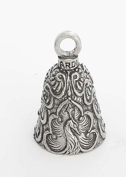 Peacock - Pewter - Motorcycle Guardian Bell® - Made In USA - SKU GB-PEACOCK-DS
