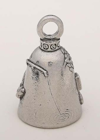 Retired Man - Pewter - Motorcycle Guardian Bell® - Made In USA - SKU GB-RETIRED-MAN-DS