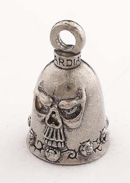 Skull - Pewter - Motorcycle Guardian Bell® - Made In USA - SKU GB-SKULL-DS