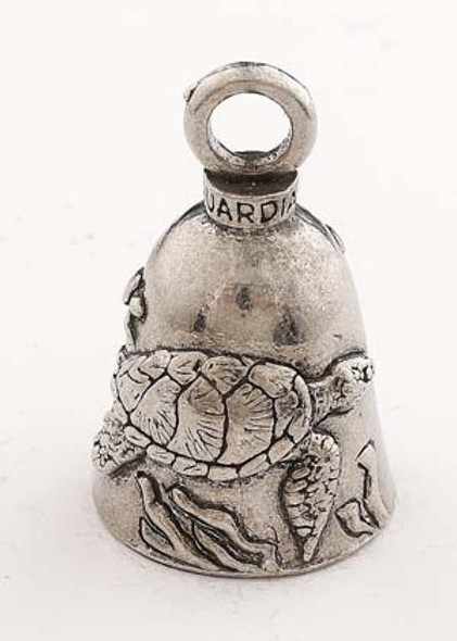 Sea Turtle - Pewter - Motorcycle Guardian Bell® - Made In USA - SKU GB-SEA-TURTLE-DS