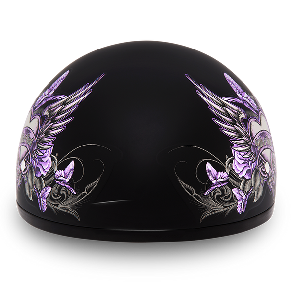 Motorcycle Helmet With Purple Wild At Heart - DOT Approved - D6-WH-DH