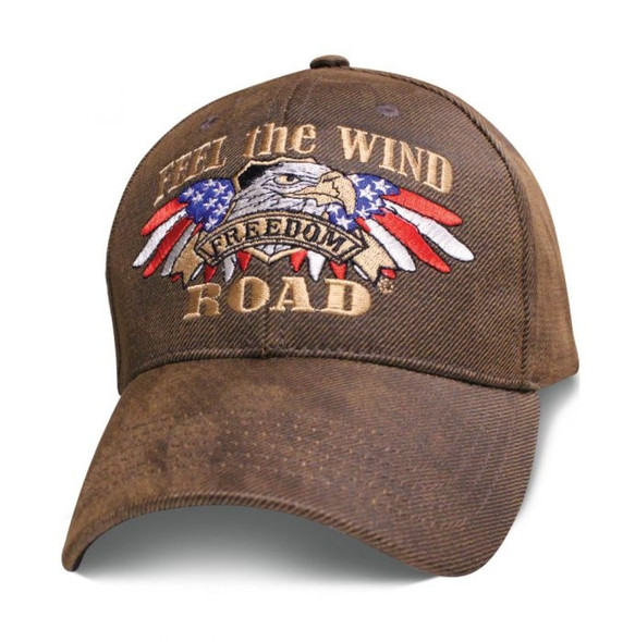 Feel The Wind - Freedom Road - Oilskin Brown Hat - Baseball Cap - SKU SBFTWO-DS