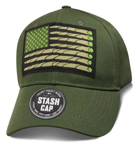 USA Flag High - Stash Cap - Baseball Cap - SKU SHUSAF-DS