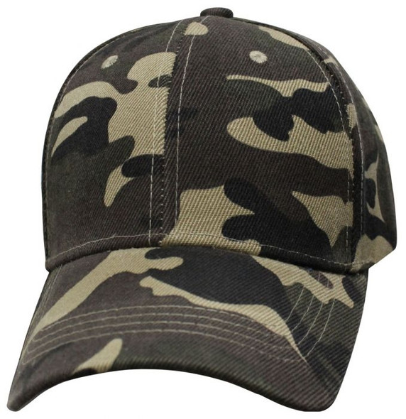 Military Green Camo - Blank - Baseball Cap - SKU 6SMGC-DS