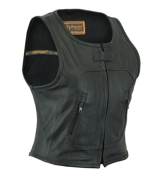 Women's Updated Perforated SWAT Team Style Leather Vest - DS002-DS