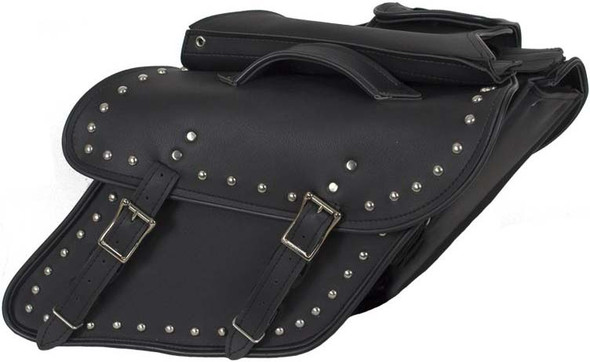 Saddlebags - Leather - Studs - Fit Harley Davidson Dyna - SD4088-DYNA-S-LEATHER-DL