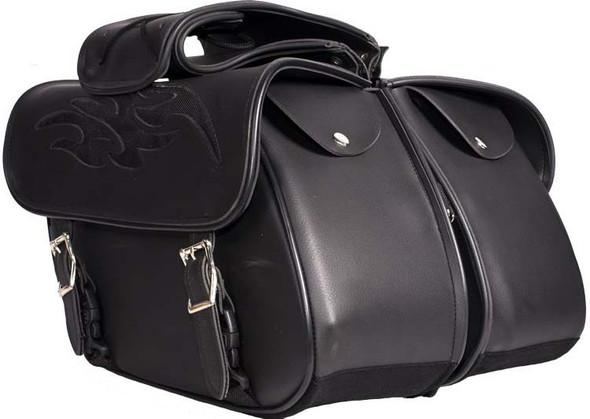 Saddlebags - PVC - Flame - Gun Holster - Motorcycle - SD-FLAME-PV-DL