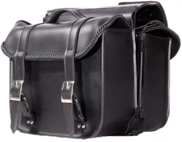 Saddlebags - PVC - Braid - Throwover - Motorcycle Luggage - SD4019-PV-DL