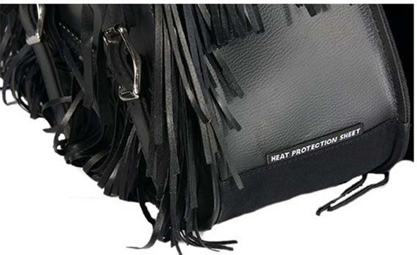 Saddlebags - PVC - Fringe - Braid - Conchos - Motorcycle - Lock - SD4038-PV-DL