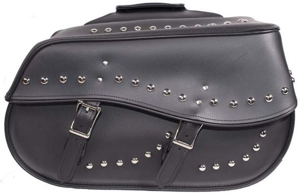 Saddlebags - PVC - Studs - Motorcycle Luggage - Large - SD4068-PV-DL