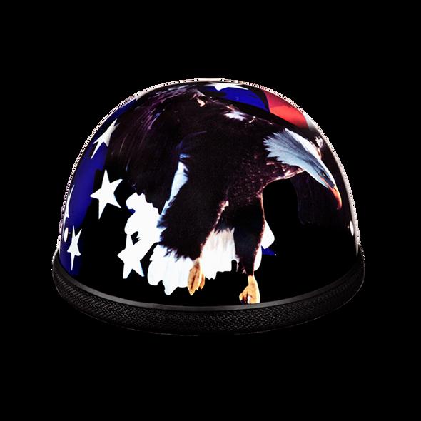 Novelty Motorcycle Helmet - Freedom Eagle - Shorty - 6002FR-DH