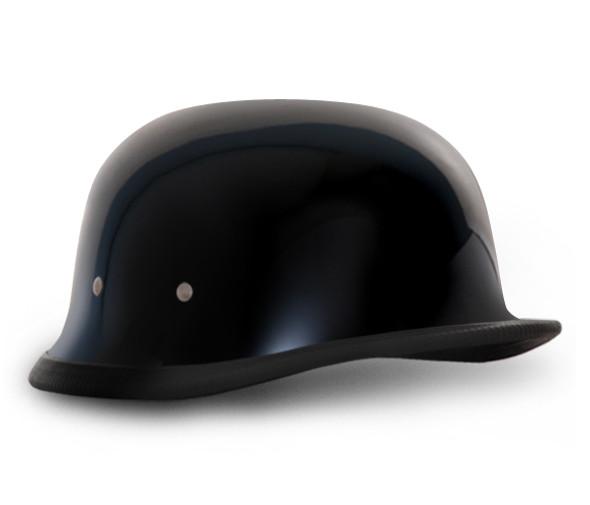 German High Gloss Black Novelty Motorcycle Helmet - Daytona Helmets - SKU 1004A-DH