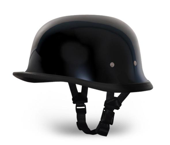 Novelty Motorcycle Helmet - High Gloss Black - German - 1004A-DH