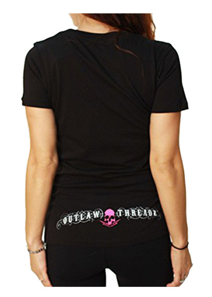 Women's V-Neck Shirt - Head Bitch In Charge - HBIC - SKU WT22-DS