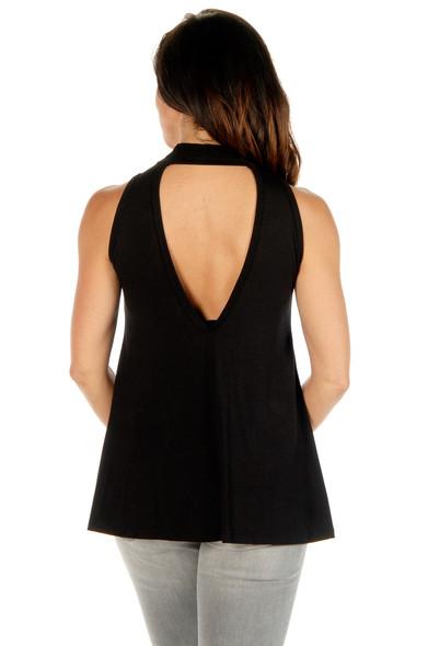 Women's V Back Shirt - Heavy Metal Devilish - Sleeveless - SKU 7221BLK-DS