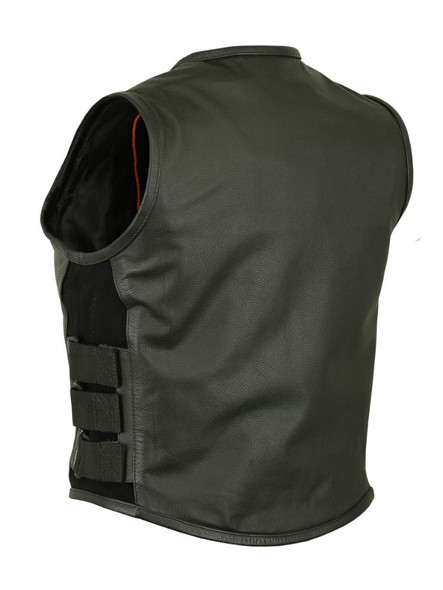 Women's Updated SWAT Team Style Leather Vest - Motorcycle Vests - DS200-DS