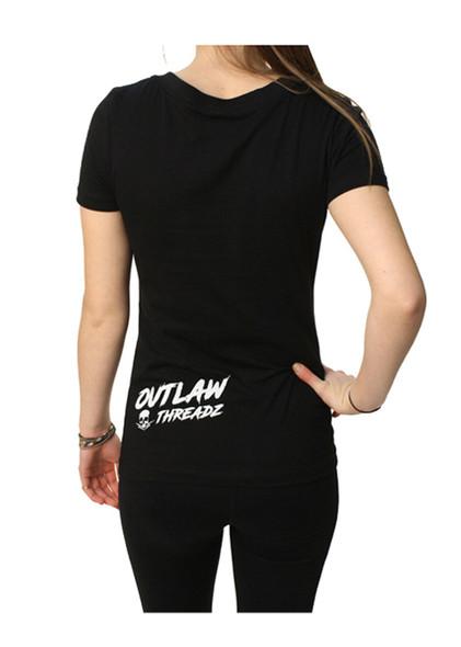 Women's V-Neck Shirt - Classy Bitch - Tattoos Booze Nice Shoes - SKU WT54-DS