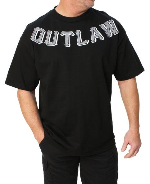Men's Biker T-shirt - Outlaw - Lawless - Skull Motorcycle - SKU MT116-DS