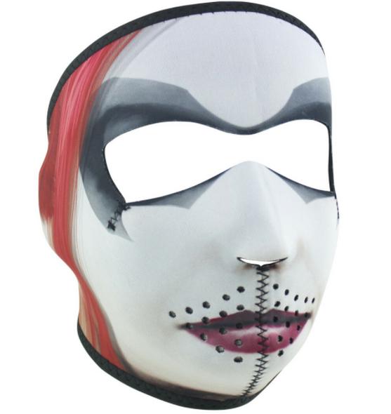Full Face Neoprene Face Mask - Dr. Q - Motorcycle Mask - WNFM410-HI