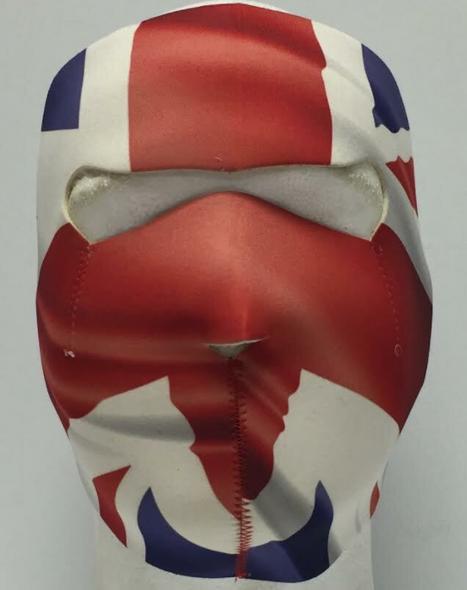 Full Face Neoprene Face Mask - British Flag - Union Jack - Motorcycle Mask - BRIT-HI