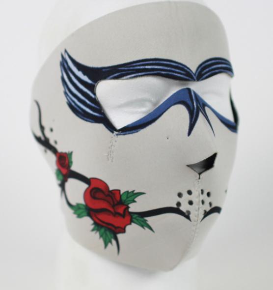 Full Face Neoprene Face Mask - Dark Rose - Motorcycle Mask - FMG13-HI