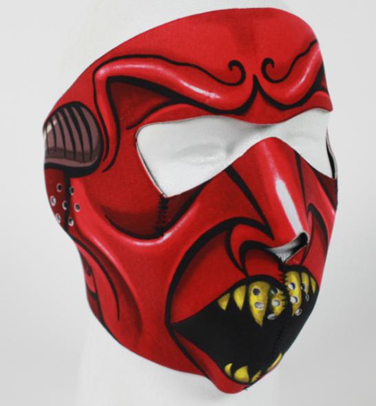 Full Face Neoprene Face Mask - Red Devil - Motorcycle Mask - FMF11-HI