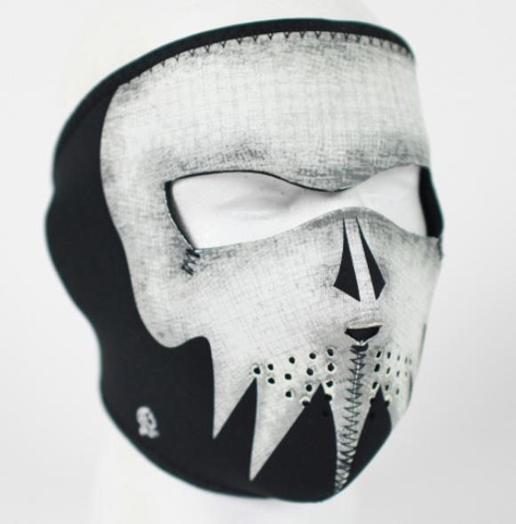 Full Face Neoprene Face Mask - Ghost Skull - Motorcycle Mask - FMA02-HI