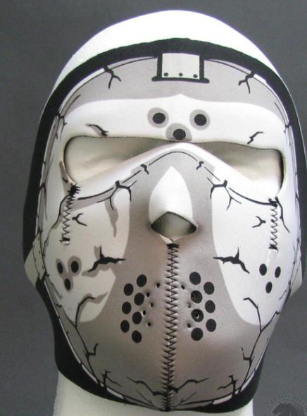Full Face Neoprene Face Mask - Hockey - Motorcycle Mask - FMT21-HI