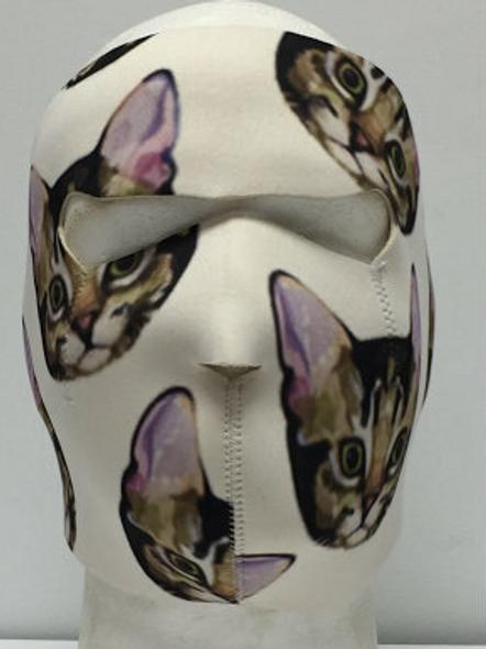Full Face Neoprene Face Mask - Kitten - Motorcycle Mask - CUST3-HI
