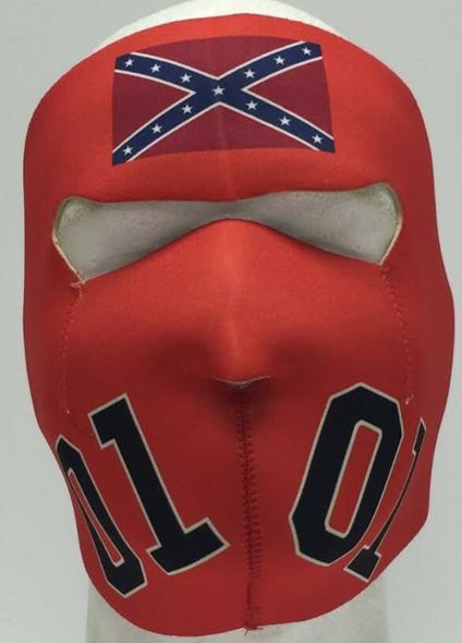 Full Face Neoprene Face Mask - General Lee - Motorcycle Mask - GENLEE-HI