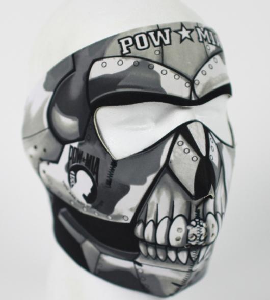 Full Face Neoprene Face Mask - POW MIA - Motorcycle Mask - FMG17-HI