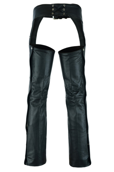 Leather Chaps - Men's - Big and Tall - Up To 5XL - Tall - Motorcycle - DS-447TALL-DS